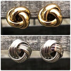 🆕List! Knotted Earring Bundle! VTG!